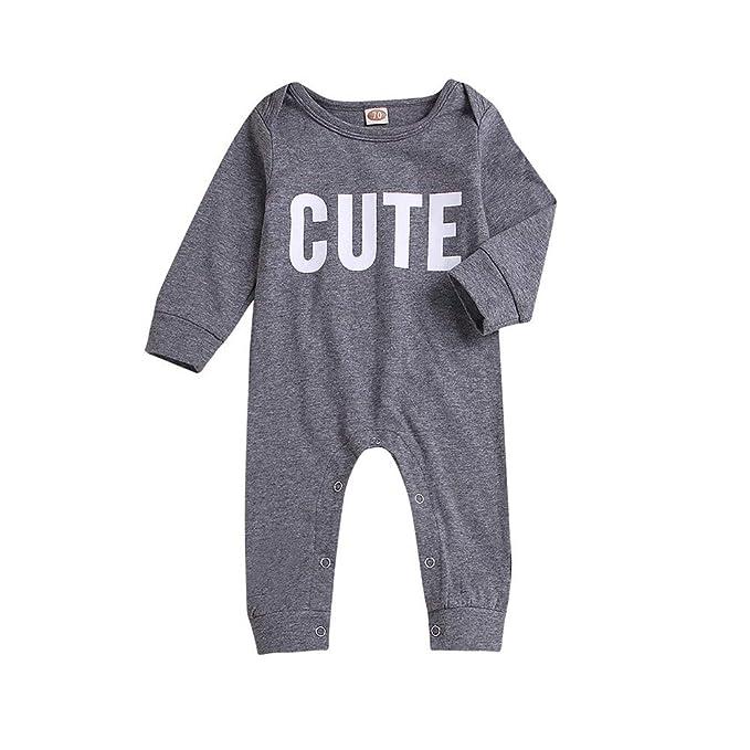 Kids Baby Boys Girls Warm Infant Romper Jumpsuit Bodysuit Cotton Clothes Outfits