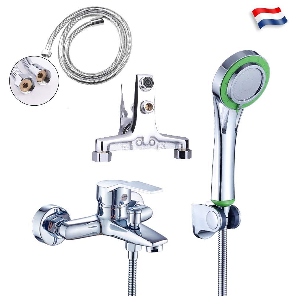 Grifo monomando para bañ era grifo de bañ era cascada con alcachofa de ducha para cuarto de bañ o Sinbide®
