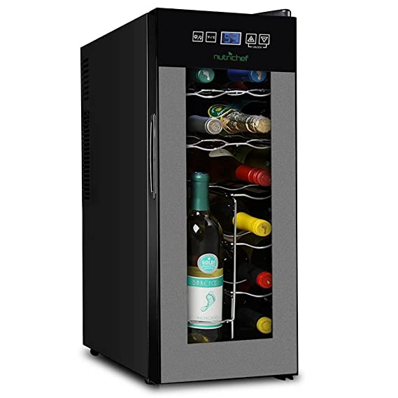 Nutrichef 12 Bottle Thermoelectric Wine Cooler Refrigerator Review