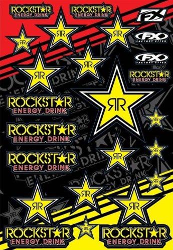 Factory Effex 15-68700 Mylar Rockstar Energy Sticker Sheet