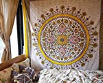 """Floral Medallion Wall Tapestry Dorm Decor,60""""Wx 80""""L"""