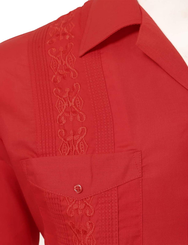 Allsense Mens Long Sleeve Cuban Guayabera Shirts