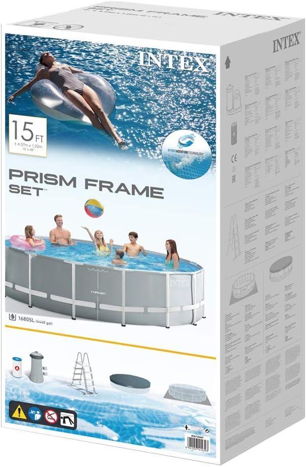 con depuradora Intex 26702NP Piscina desmontable redonda 305 x 76 cm