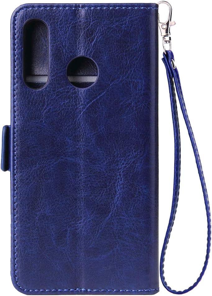 WIWJ Kompatibel mit Huawei P30 Lite H/ülle Rei/ßverschluss Leder Wallet Handyh/ülle Klapph/ülle Ultra Slim Flip Case Stand Schutzh/ülle 360 Grad Sto/ßfest Silikon Bumper Tasche-Schwarz