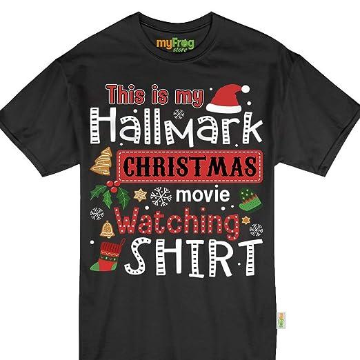 e4eb421b0 Amazon.com: This is My Hallmark Christmas Movie Watching Shirt Funny ...