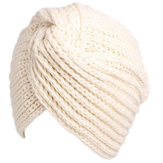 Ssowun Gorro Turbante Mujer de Lana Invierno 0007ec33029