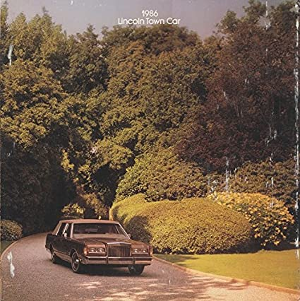 Amazon Com Original 1986 Lincoln Town Car Town Car Cartier