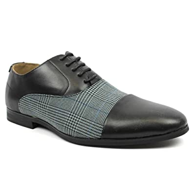 ad4cd09bbe0 New Men s Cap Toe Plaid Checkered Lace Up Modern Dress Shoes Azar (6.5 U.S (
