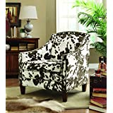 Coaster Contemporary Cow Pattern Accent Chair