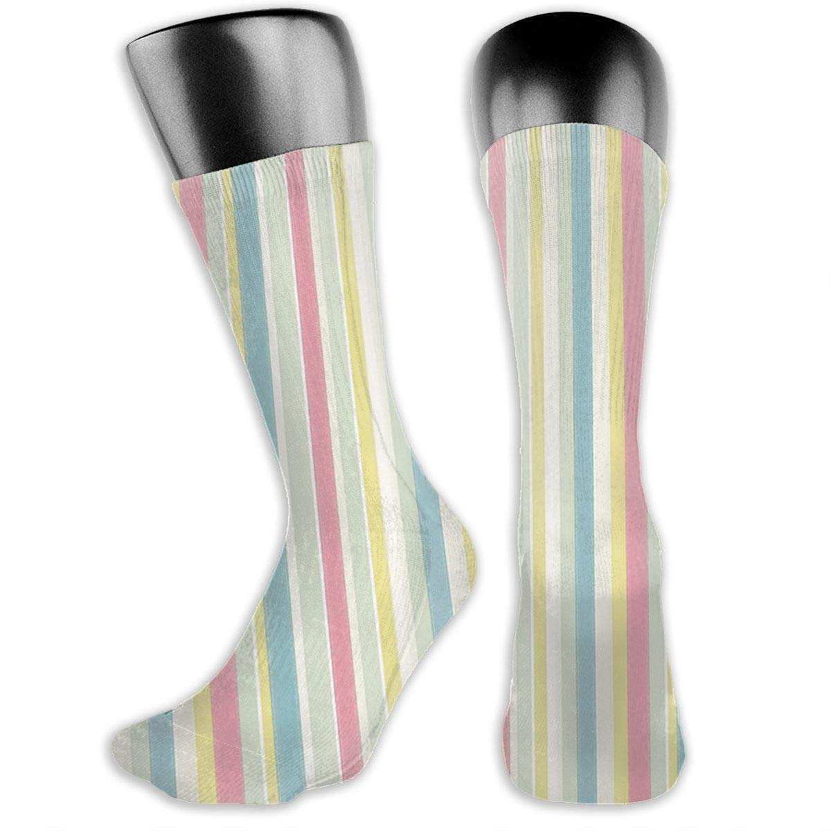Tailor/_stripe/_pastel Cotton Casual Colorful Fun Below Knee High Athletic Socks