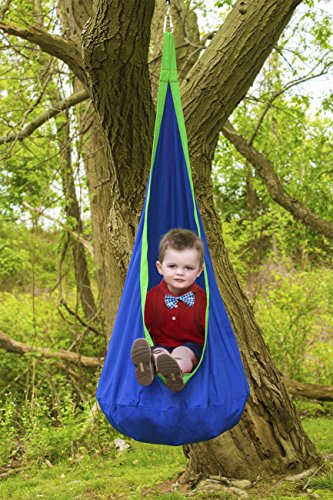 Sorbus Kids Child Pod Swing Chair – Hanging Seat Hammock Nest for Indoor and Outdoor Use – All Accessories Included