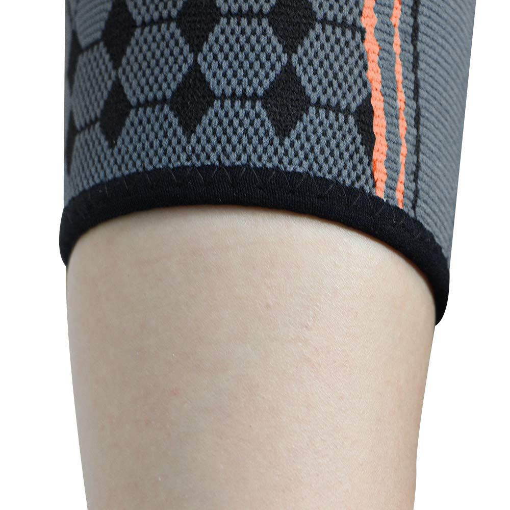 QRANSS Elbow Compression Sleeve Medical Recovery Elbow Brace Effective Pain Relief for Tennis and Golfers Elbow with Adjustable Compression Strap//Band-Orange Color 1//2PCS