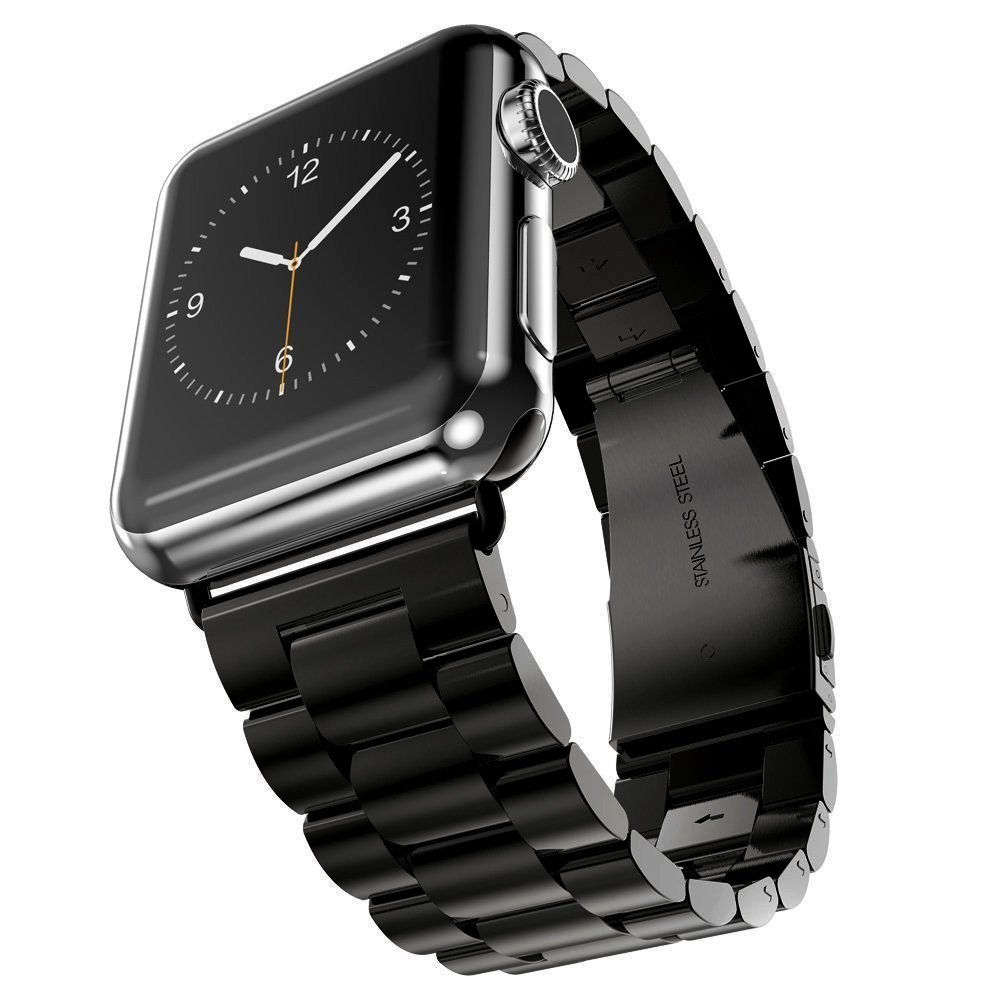 Leefrei Stainless Steel Replacement Strap Watch Band for 42mm Apple Watch Series 3 Series 2 and Series 1 - Black by Leefrei (Image #3)