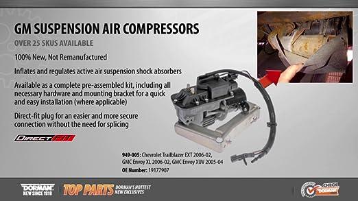 GMC Models Dorman 949-005 Air Suspension Compressor for Select Chevrolet