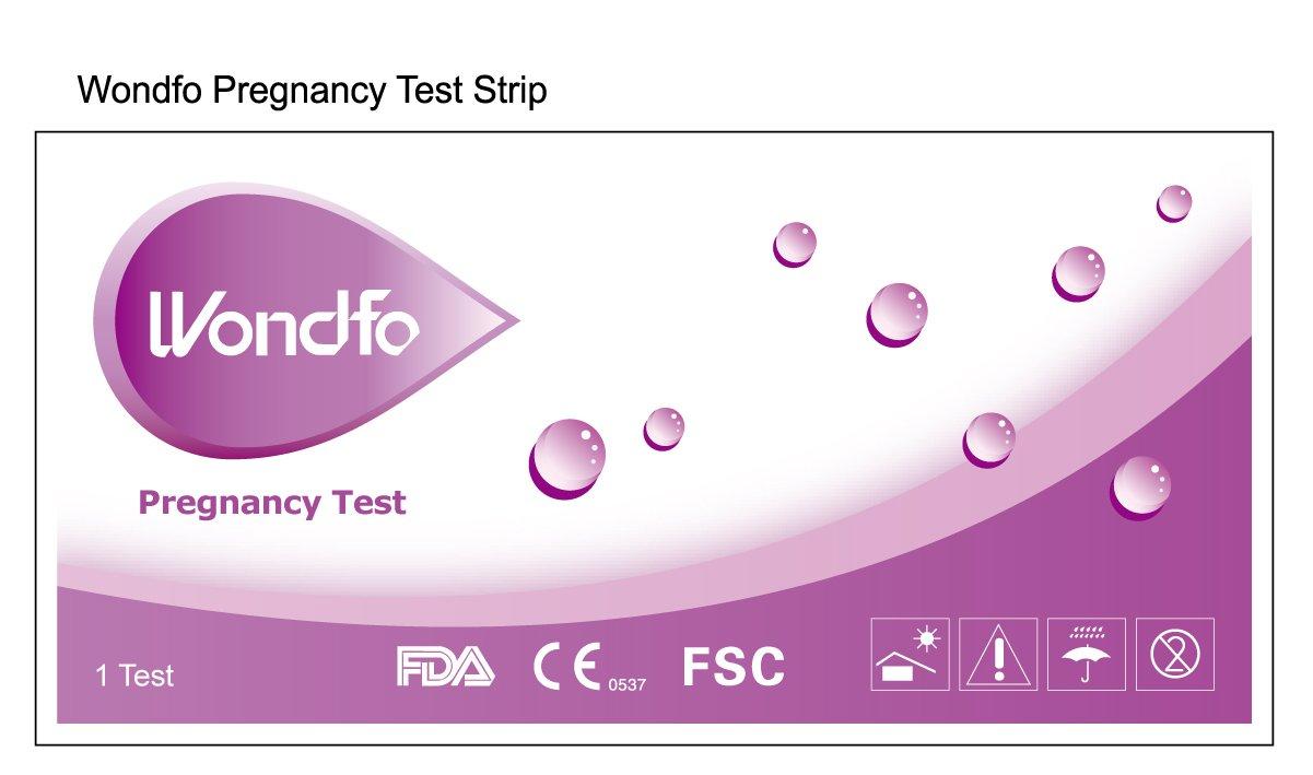 WIDE 1000 Wondfo Home HCG Pregnancy Test Strips by Wondfo