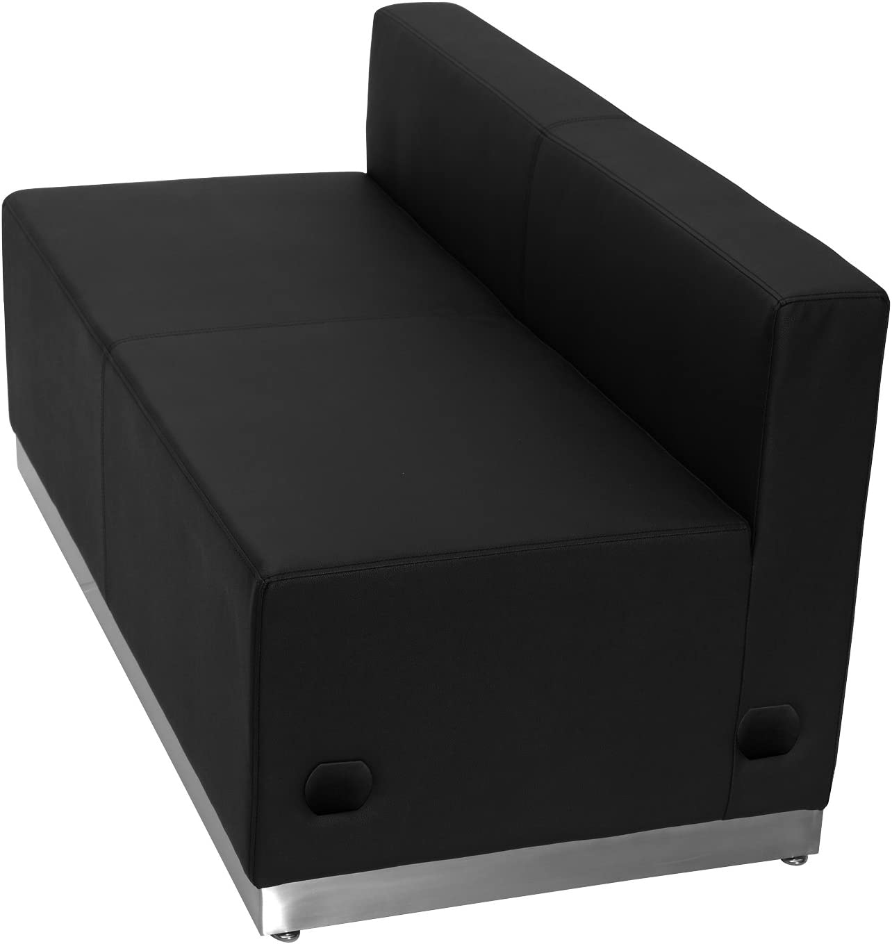 Flash Furniture HERCULES Alon Series Black LeatherSoft Loveseat