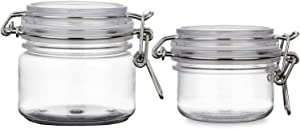 2PCS 120G/200G 4oz/7oz Round Clear Plastic Air Tight Sealed Cosmetic Bottle Vial Packing Jars Makeup Body Face-Pack Food Storage Hermetic Container Pot