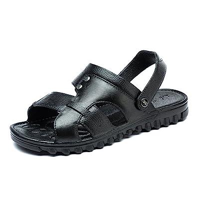 Herren Sandalen Bequeme Flach Atmungsaktiv Peep-Toe Offenen Entspannt Klassisch Einfach Sandaletten Schwarz 39 EU 1Q2CTeeyke