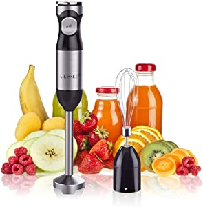 Hand Blender Mixer,Mini Electric Stick with Egg Whisk,Multi-Speed Control & Safety Child Lock For Baby Food,Fruits,Sauces and Soup