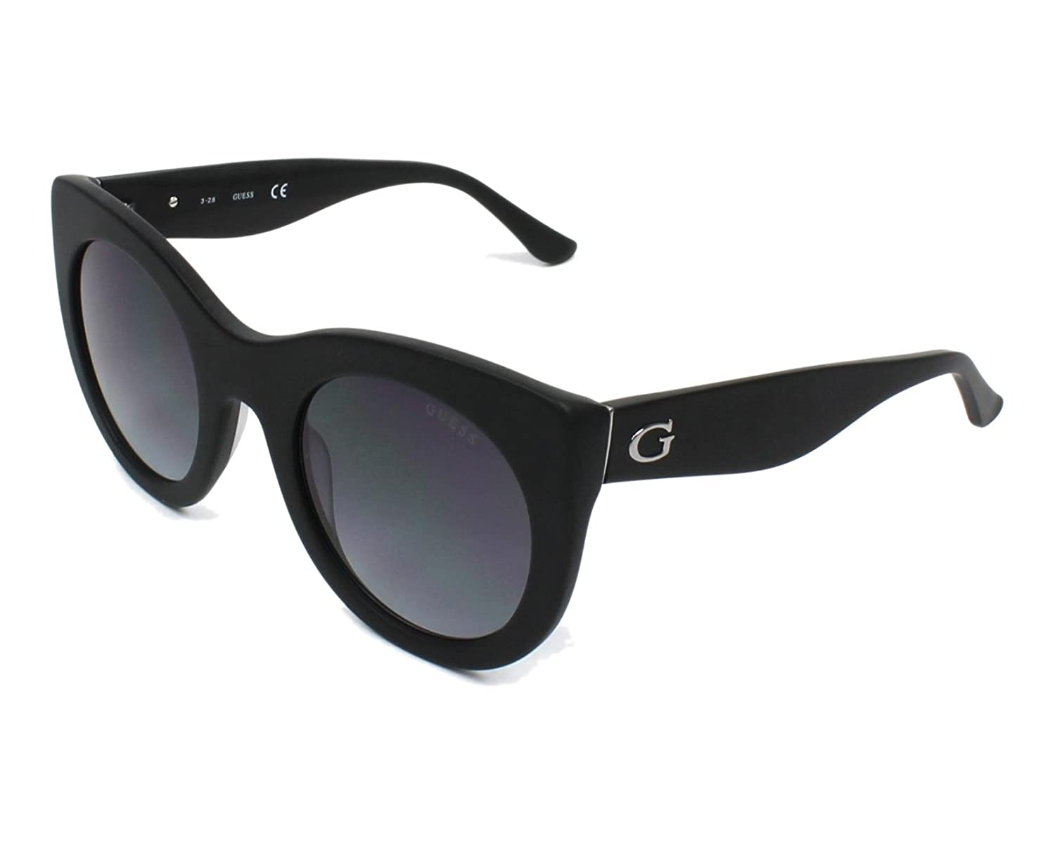 Guess Oversize Cateye Sunglasses in Shiny Black GU7485 01B 51 (Shiny Black/Smoke) GU7485-01B
