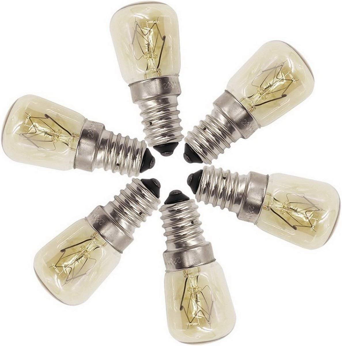 Forno Lampadina a vapore E14-25w Ad alta temperatura 300 /° c Macchina per il pane Giallo Lampadina al tungsteno AC220-240V giallo