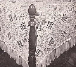 Filet & Popcorn Crochet Bedspread Pattern by [unknown]