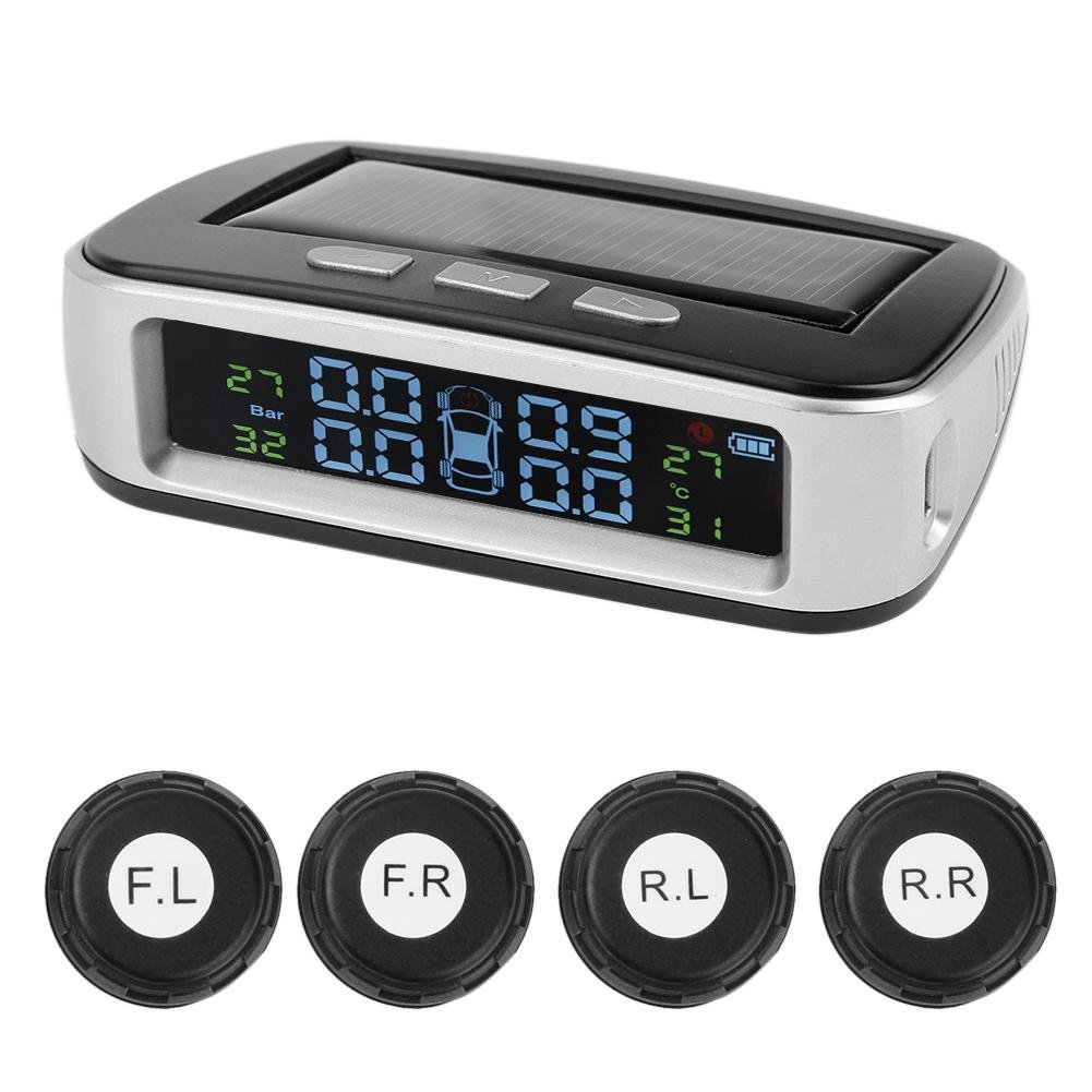 MKChung Solar Tire Pressure Monitor, TPMS Tire Pressure Tester External Universal