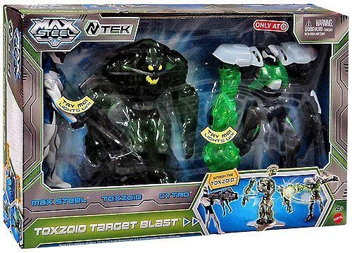 Max Steel 6 Inch Action Figure 3-Pack Toxzoid Target Blast [Max Steel, Toxzoid & Cytro] by Mattel