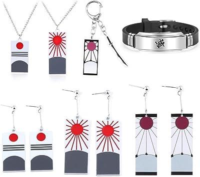 2pcs Kimetsu no Yaiba Kamado Tanjirou Cosplay Earring Earrings Props