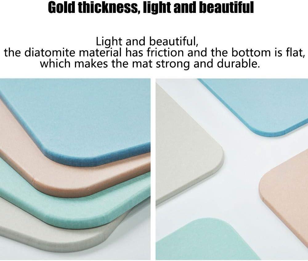Color : Green, Size : 17.7x13.8in ZJ Color Puro diatomea Lodo Estera absorci/ón de Agua ba/ño r/ápido Antideslizante Que Absorbe el Agua Secado r/ápido Cuatro Colores Opcional