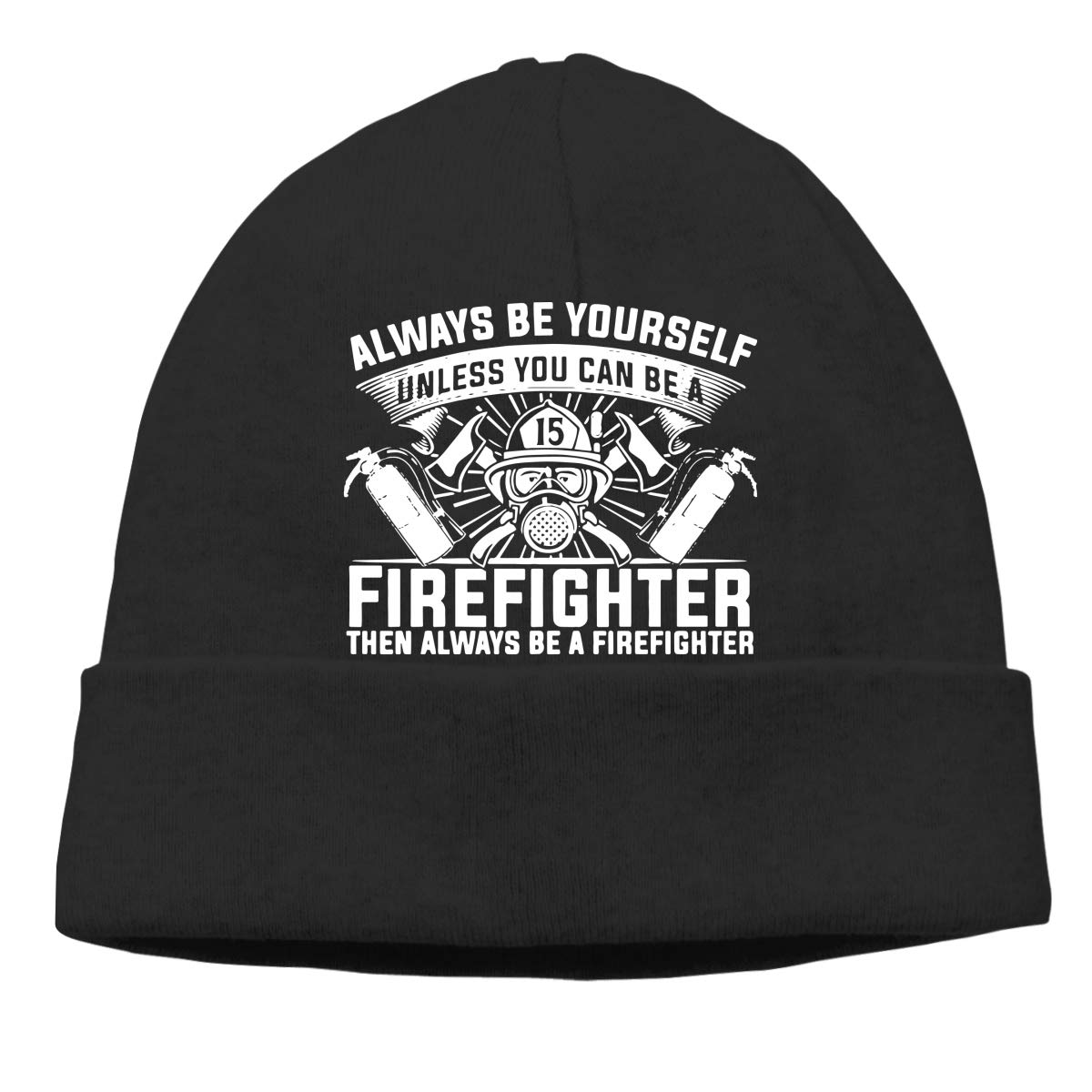 GDSG5/&4 Be Yourself Unless You Can Be Firefighter Women and Men Quick Dry Surf Beanie Hat