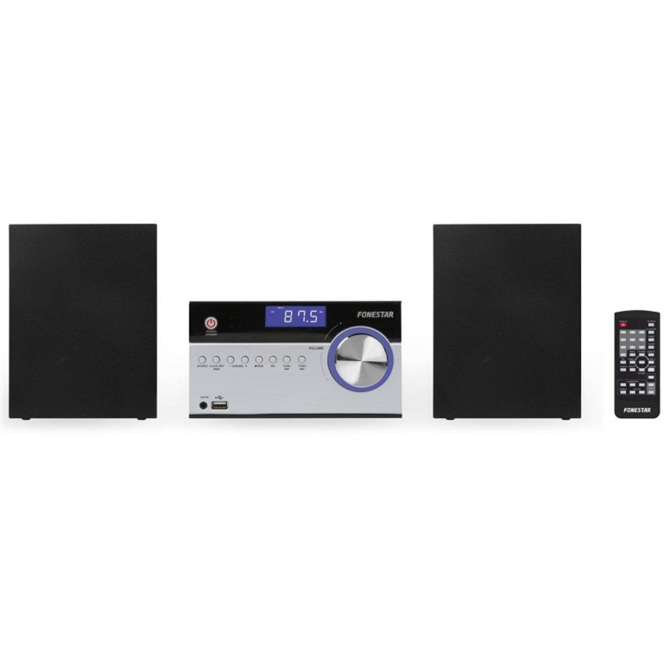 Micromusic 2x5w Plata Microcadena Bluetooth FONESTAR