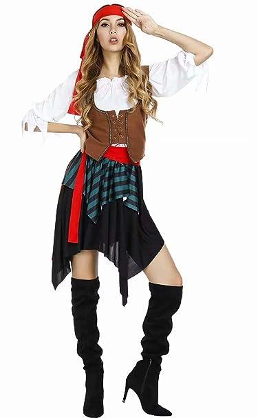 aizen Disfraz Pirata Mujer Adulta Especial para Fiestas de ...