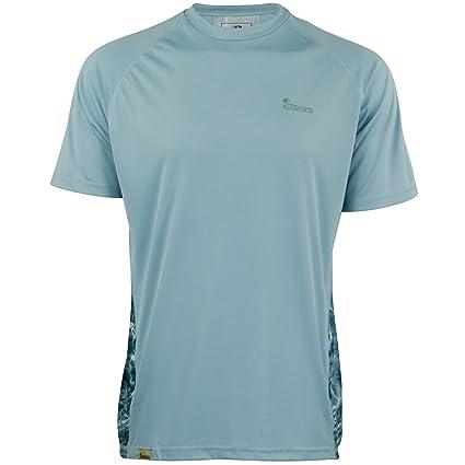 d85579381303d Mossy Oak Men's SS Performance Moisture Wicking Fishing Shirt, 3X-Large,  Blue Horizon