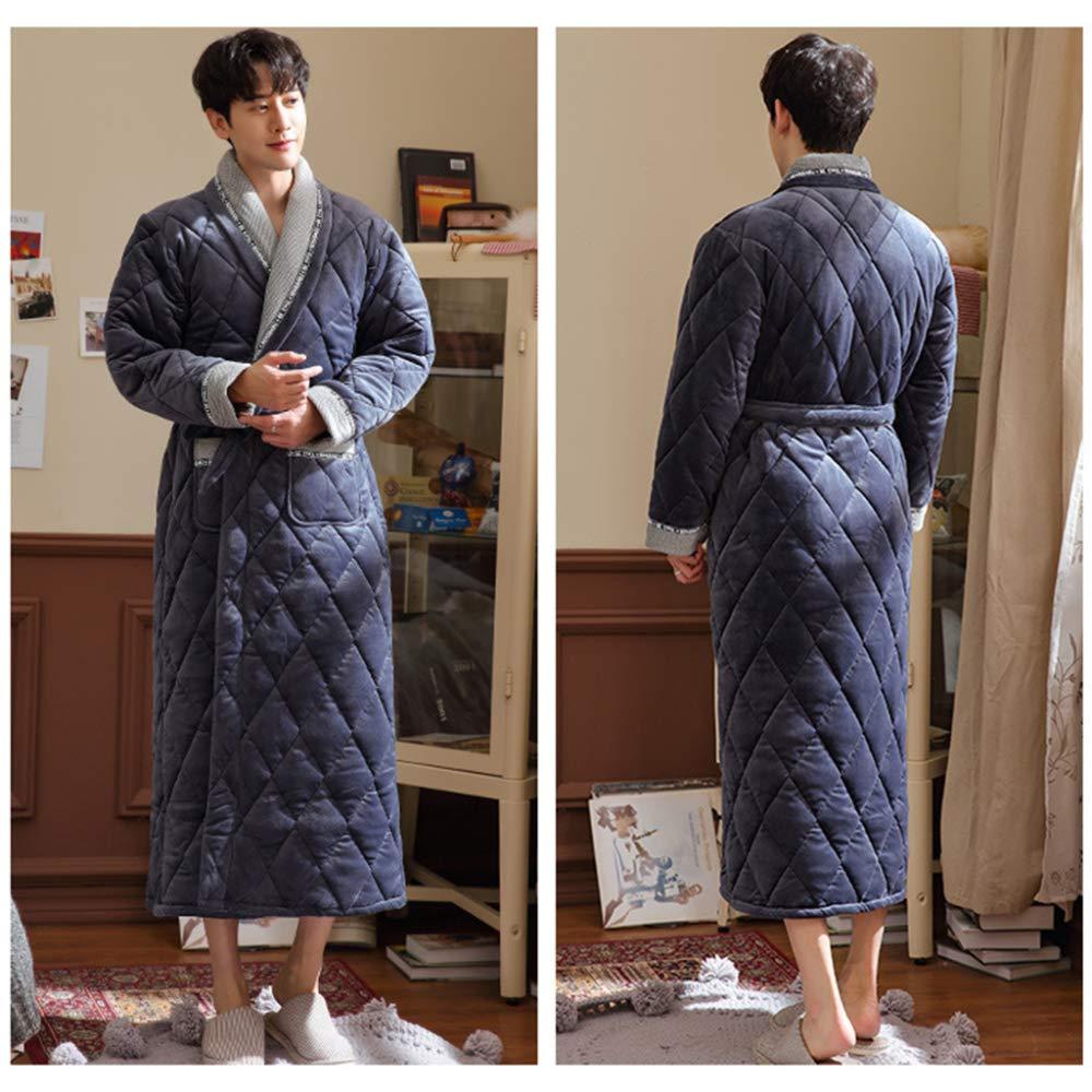 Bata De Baño De Los Hombres Engrosamiento Pijamas De La Juventud Otoño Invierno Batas De Baño Calientes Ropa De Dormir para Niños.