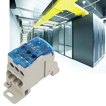 Caja de empalme, caja de distribución del bloque de terminales del riel DIN Conector de cable eléctrico Caja de caja de conexión de alimentación universal para cables eléctricos Cables: Amazon.es: Industria, empresas