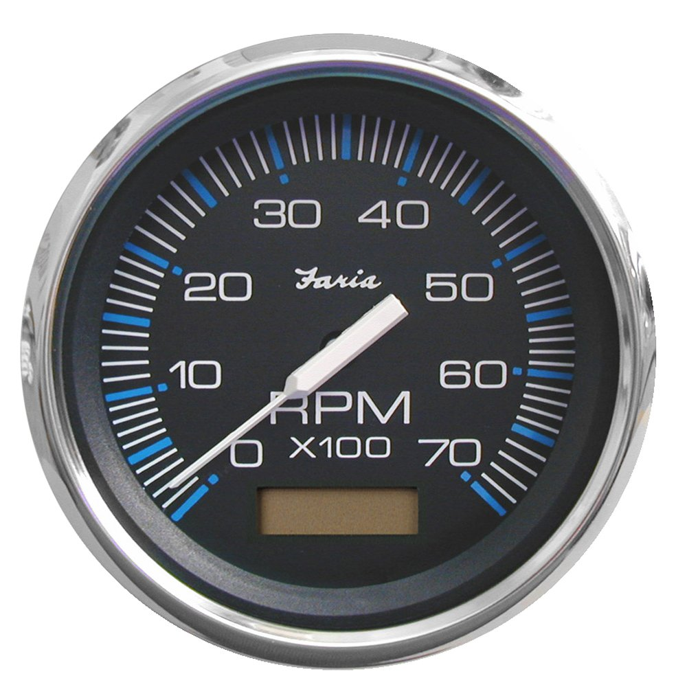 54623 Gas - Outboard Faria Chesapeake Black SS 4 Tachometer w//Hourmeter 7,000 RPM