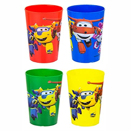 Whitehouse Set De 4 Vasos Para Ninos Super Wings Taza