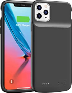 Lonlif Battery Case for iPhone 11 Pro Max, 5000mAh Ultra Slim Portable Charging Case Protective Charger Case, Rechargeable Extended Battery Pack for iPhone 11 Pro Max (6.5 inch) (Black)