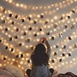 Cookey Clip cadena de luces LED - 40 Fotoclips 5M plana Betri batería Bildleuchten LED para la ración decorativos…