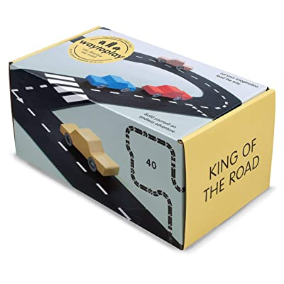 waytoplay King of The Road 40-Piece Toy Road, Black with White Striping, 648 cm: Toys & Games