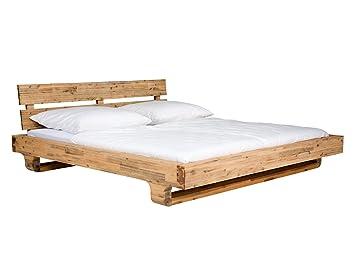 Ausgefallene betten holz  massivum Doppel-Bett Madras 180x200 cm aus massiven Akazien-Holz in ...