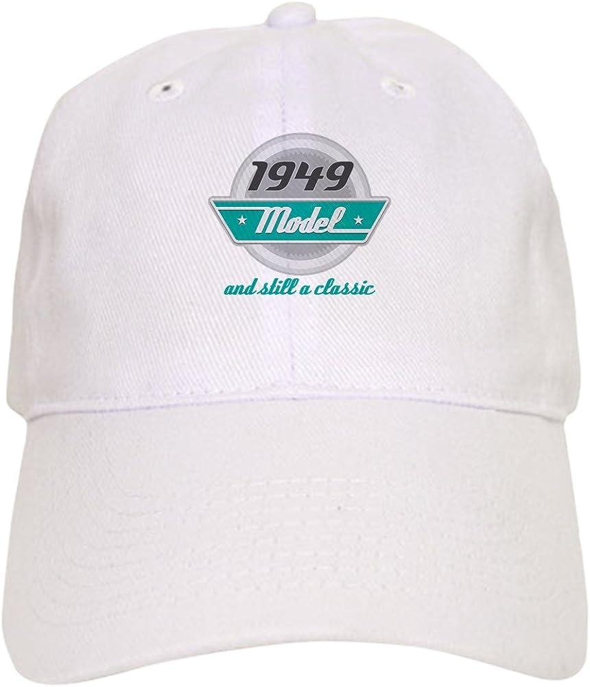 Unique Printed Baseball Hat CafePress Baseball Cap with Adjustable Closure 1949 Birthday Vintage Chrome
