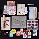 55PCS Retro Decorative Stickers Cards Envelopes