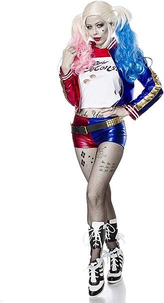Suicide Harley Disfraz de Damas para Suicide Squad Fans 7pcs Rojo ...