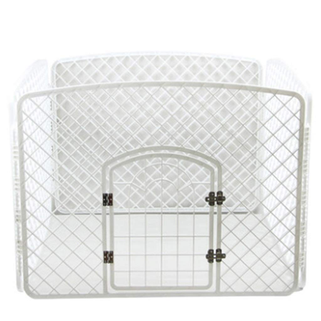 A GBY Puppy heavy puppy play pen- Pet fence dog cage pet dog fence fence detachable dog fence Teddy Bear small and medium dog fencePuppy fence (color   A)