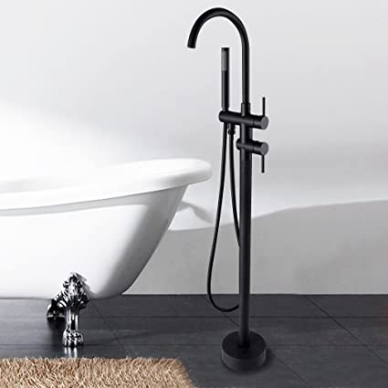 floor mount tub faucet oil rubbed bronze. Sprinkle Floor Mounted Standing Bathtub Faucet Single Handle Mixer Tap with  Handheld Shower Oil Rubbed Bronze