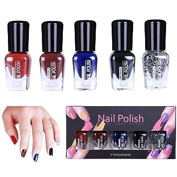 Amazon.com : (5 Pack) Womens Nail Polish Clearance - Iuhan Women 5Pcs Nail Art Template Stamp Stamping Painting Varnish Polish Manicure Design Big ...