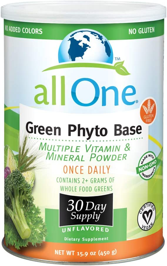 allOne Green Phyto Base Multiple Vitamin and Mineral Powder, Unflavored, 30 Servings