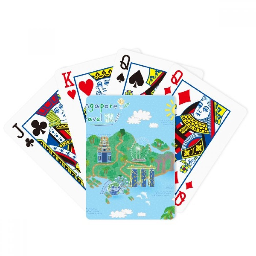 beatChong Singapore Travel Map Poker Playing Card Tabletop Board Game Gift